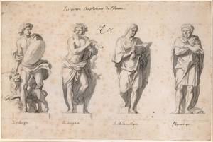 povaha Charles_Le_Brun-Grande_Commande-Les_Quatre_temperaments autor-Myrabella zdroj-wikimedia commons