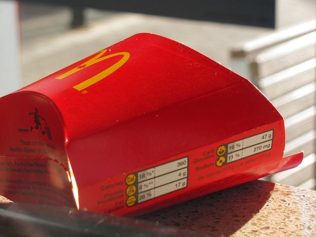 McDonald's hranolky autor: quartzla zdroj: Pixabay.com