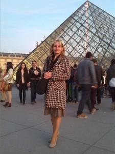 Jana Šmardová v Paříži zdroj: Helena Pelikánová
